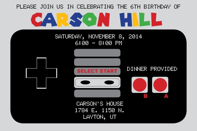 Carson Hill Birthday Invite