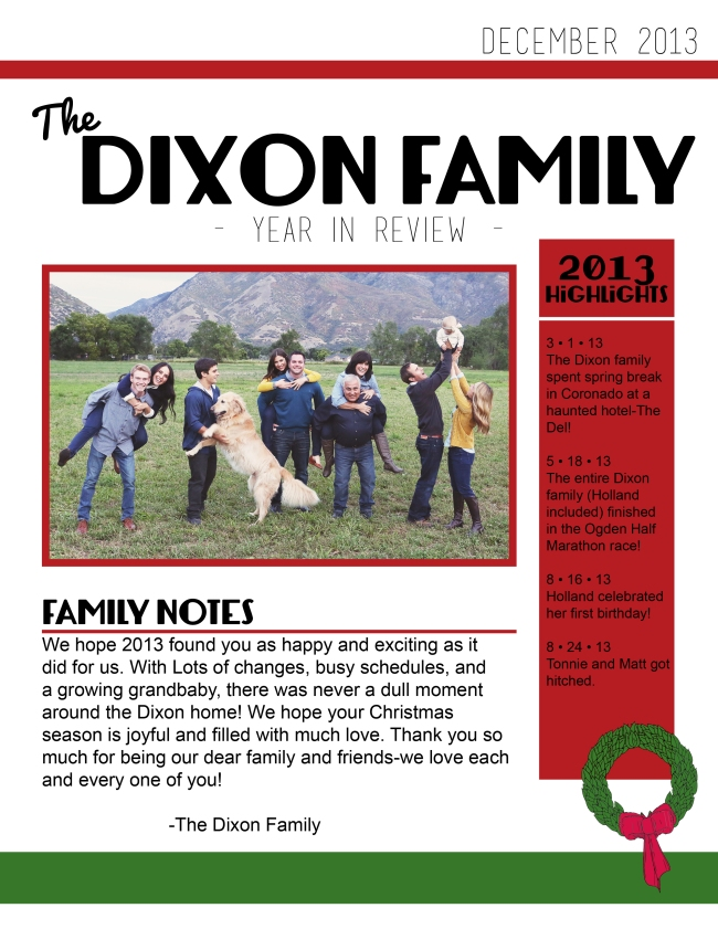 Dixon Newsletter 2013