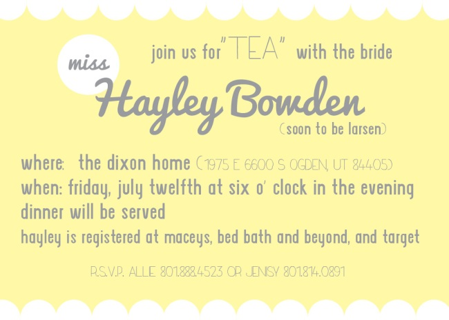 Hayley Bowden Bridal Shower