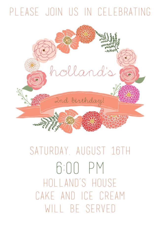 Holland 2nd Birthday Design 2014