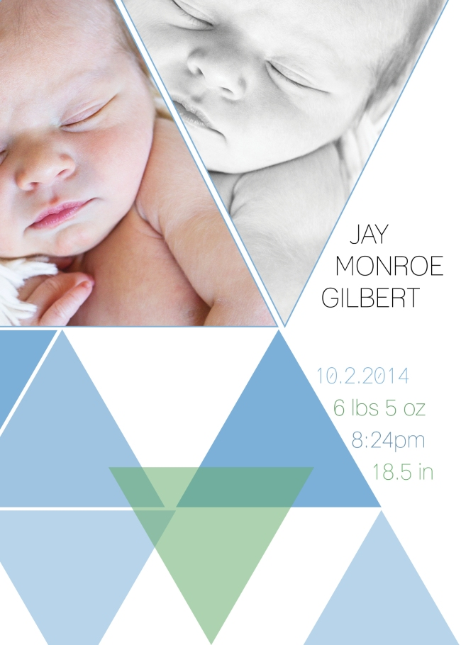 Jay Monroe Gilbert Birth Announcement 20143