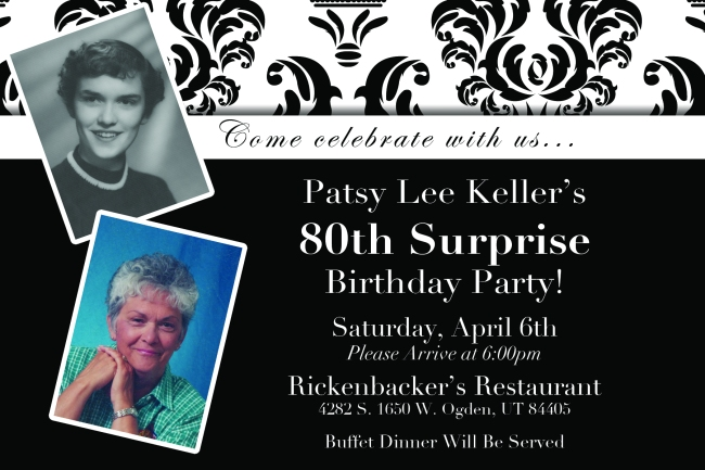 Pat Keller's 80th Birthday Invite