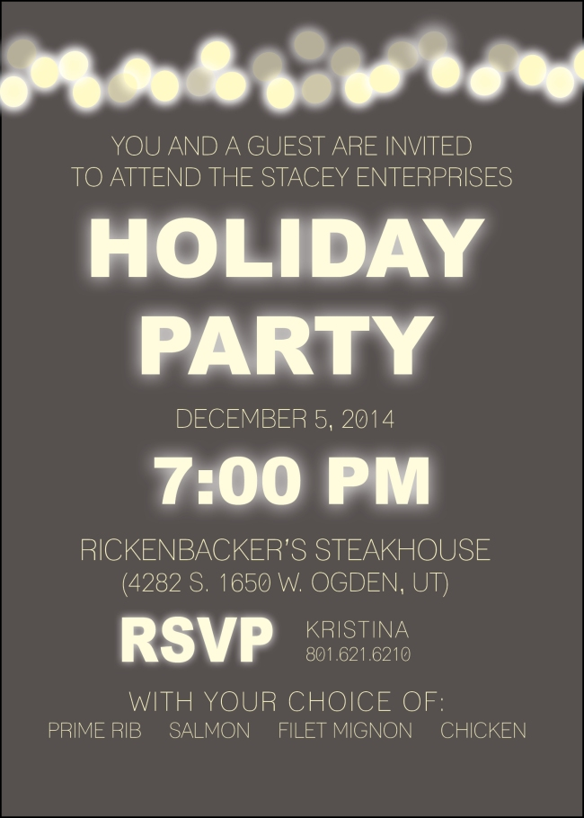 SEI Holiday Party Invite 2014