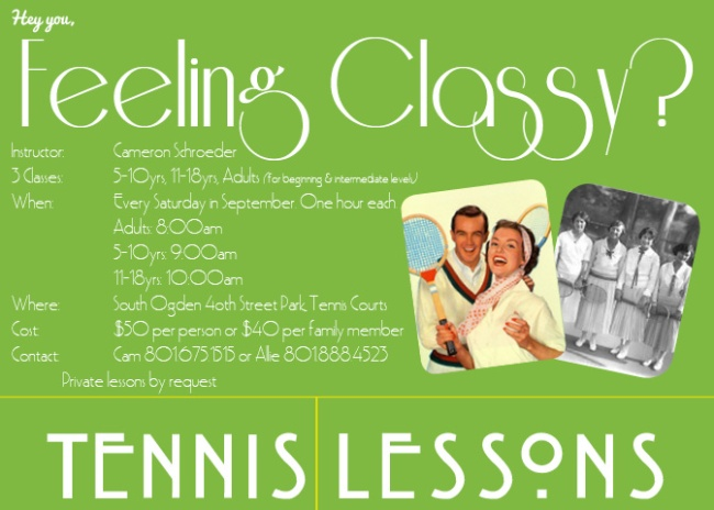 Tennis Summer Lessons (Classy)