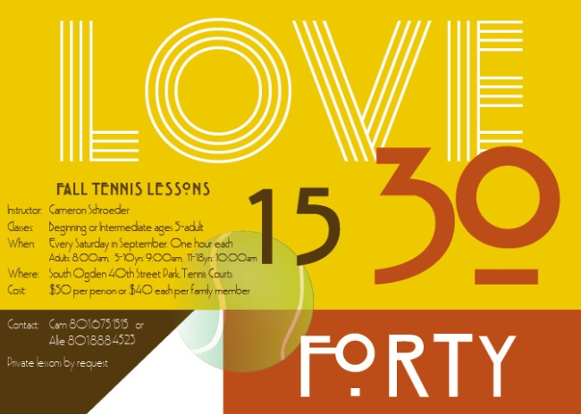 Tennis Summer Lessons (LOVE)