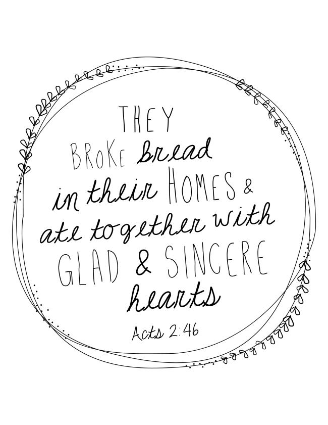 They Broke Bread - Cris Garside (ASF&D Typography)
