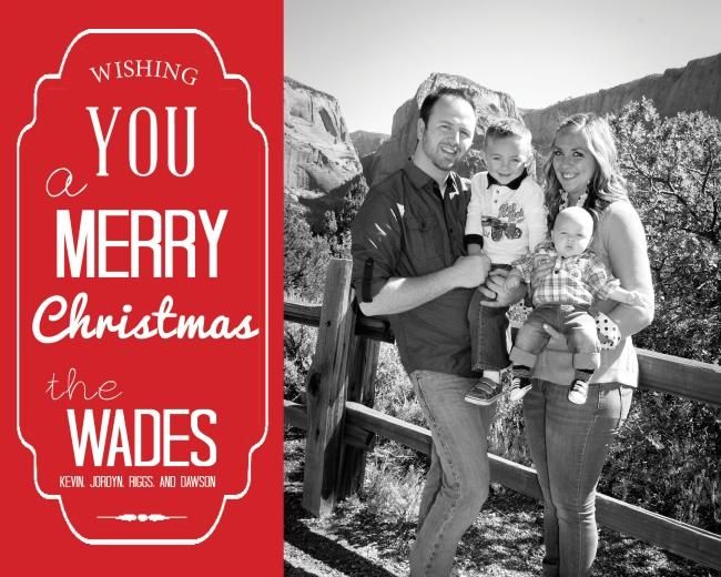 Wade Family Christmas Card Design 2014 (6x7.5)2