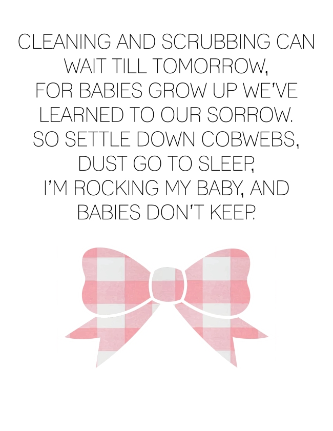 Babies don't Keep Poem {ASF&D Typography}