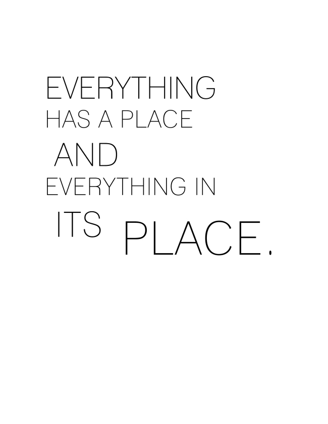 Everything Has a Place {ASF&D Typography}