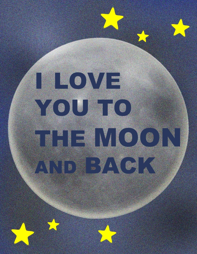 I love you to the moon {ASF&D Typography}