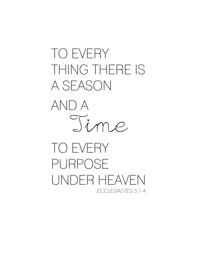 To Everything There is a Season {ASF&D Typography}