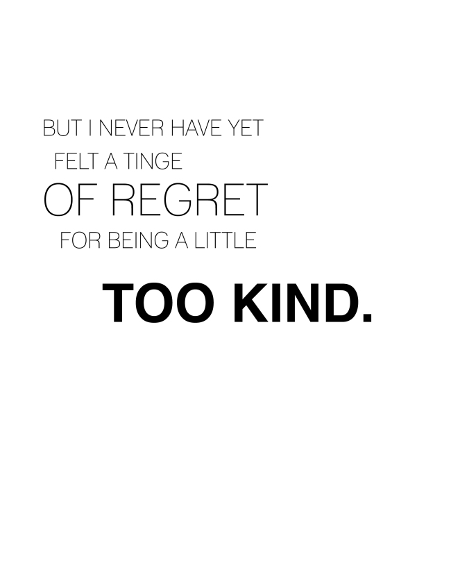 Too Kind {ASF&D Typography}