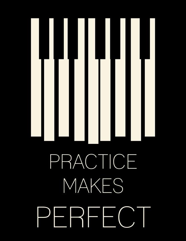 Practice Makes Perfect (black)