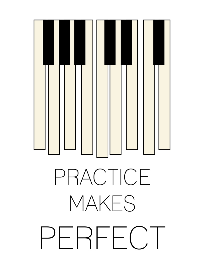 Practice Makes Perfect (white)