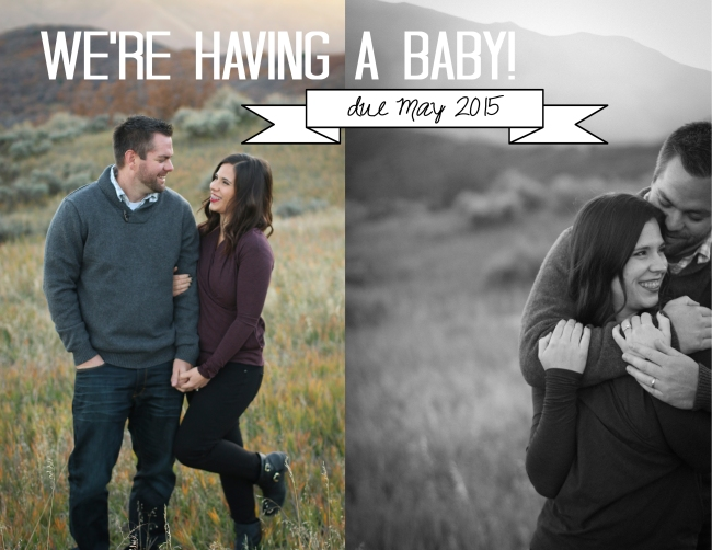 We're Having a Baby (two-pics design)