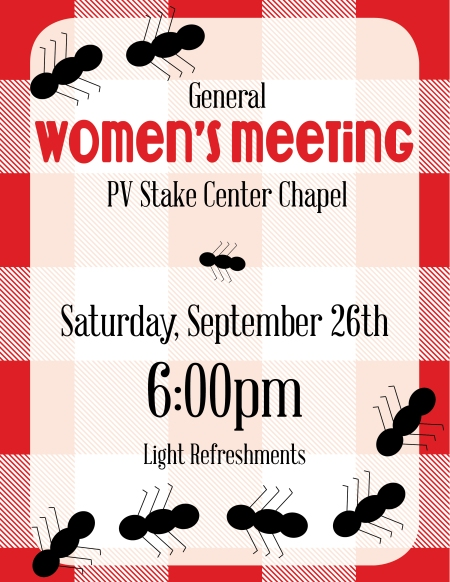 General Womens Meeting (September 2015)