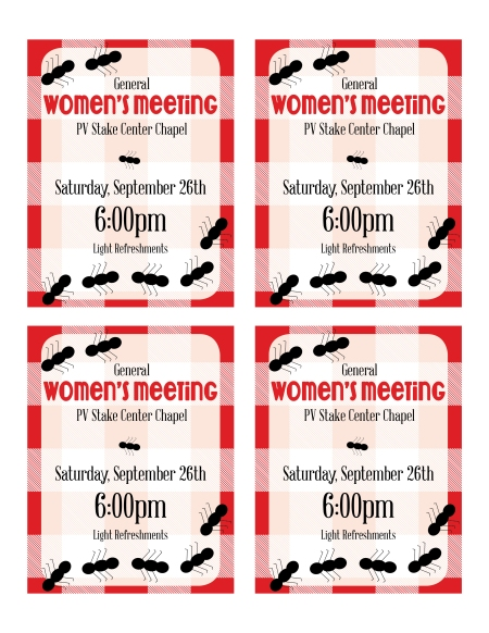 General Womens Meeting (September 2015)3