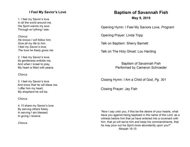 Savannah Fish Baptism Program2