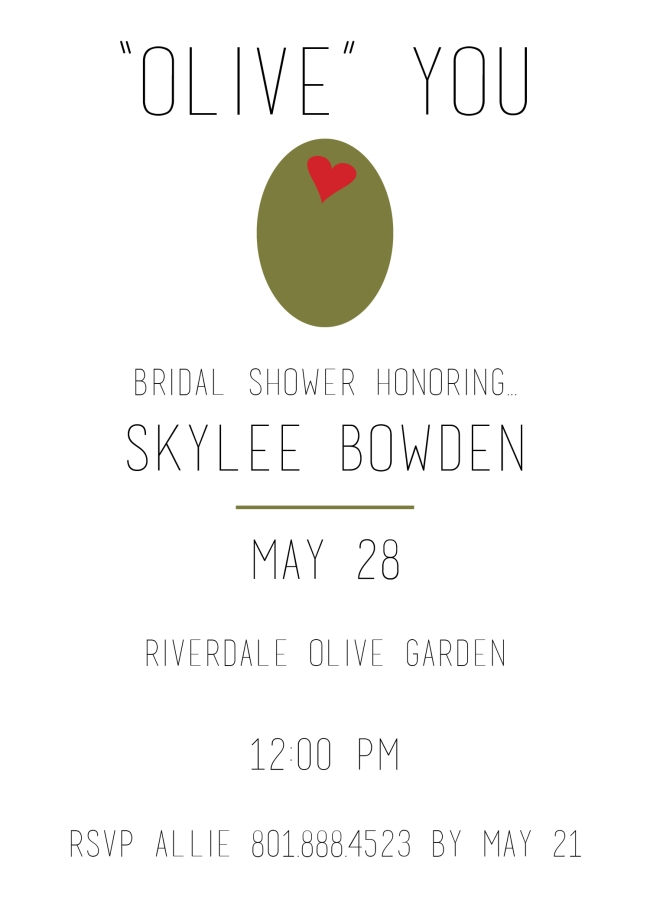 Skylee Bowden Bridal Shower Invite Design 2016