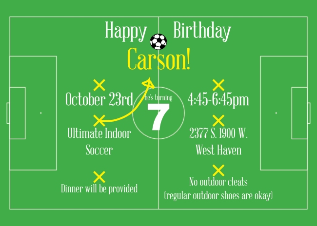 Carson Hill 7th Birthday Invite Design 2015 (5x7)