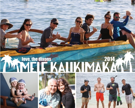 Mele Kalikimaka Love, the Dixons Christmas Card 2014