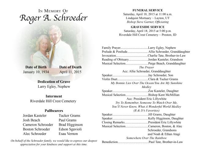 Roger A. Schroeder Funeral Program DRAFT 22