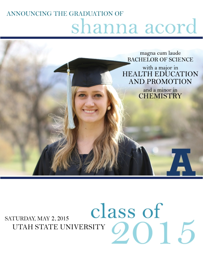 Shanna Acord Class of 2015 Design