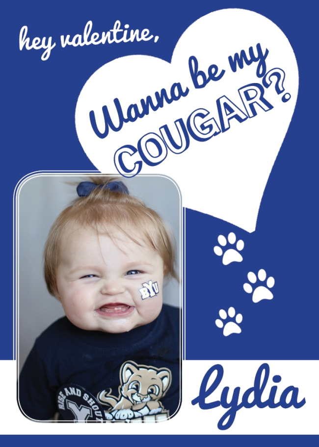 Wanna be my Cougar (Lydia) Valentine Design 2015 (2.5x3.5 wallet)