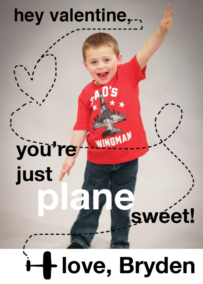 You're Just Plane Sweet (Bryden) Valentine Design 2015 (2.5x3.5 wallet)