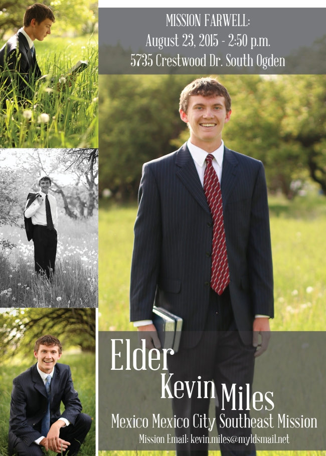 Kevin Miles Graduation and Missionary Announcement 2015 FINAL DRAFT