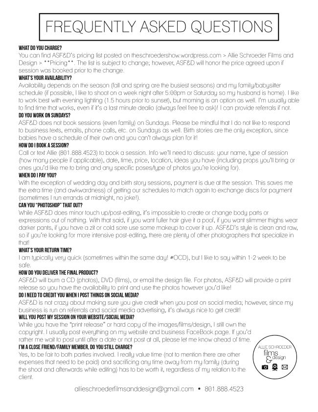 FAQS (April 2016)