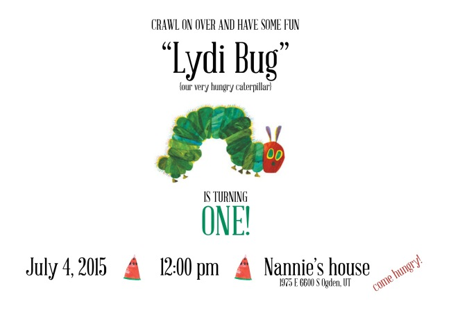 Lydia First Birthday Invite & Design 2015
