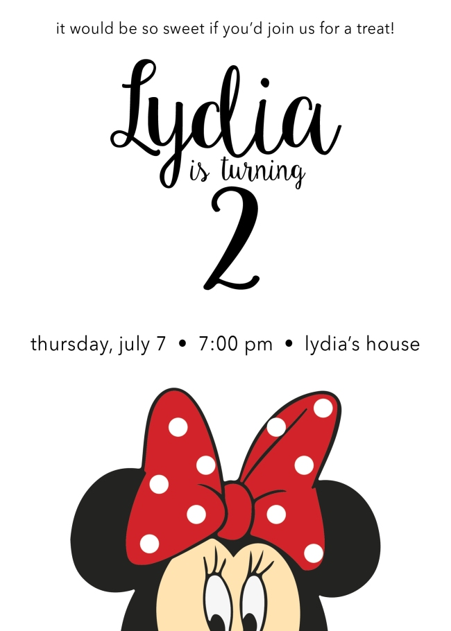 Lydia 2nd Birthday Design 2016